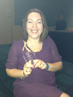 me with my award